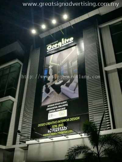 Creqtivo Interior Design Special Giant Billboard & 3D LED Conceal Box Up Lettering