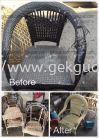 Repair Outdoor Chair ( Synthetic  Rattan )