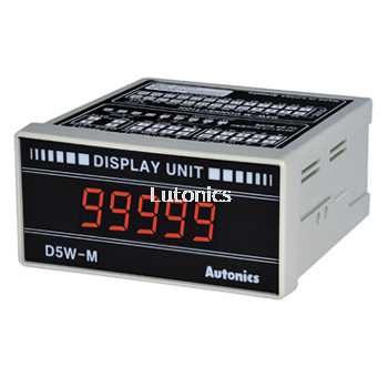D5W Series - Panel Mount Type, 5-Digit Display Unit