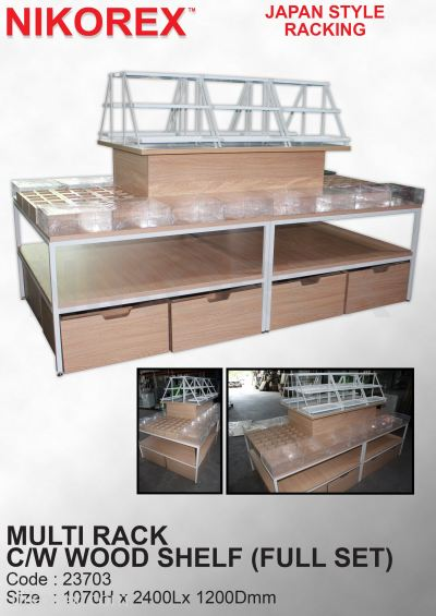 23703-MULTI RACK C/W WOODEN SHELF (FULL SET)
