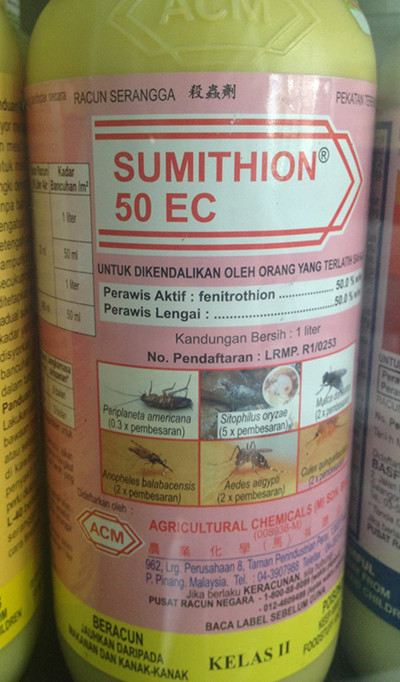 Sumithion 50EC 1L (Water-Based) RM150/Bottle Mosquito Johor Bahru, JB, Malaysia. Pest Control Services, Pest Termite Treatment | XMITE Pest Control Sdn Bhd