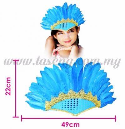Head Feather Mask1 Blue (HMK-FT1-B)
