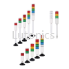 PL4 Series - D45mm Steady / Flashing / Buzzer LED Tower Light Tower lights  Indicating lights Menics Products