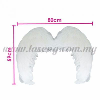 Feather Wings (L) White (P-AC-W2W)