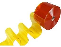 PVC CURTAIN - CLEAR ORANGE SIZE : 2mm x 200mm x 50mtr
