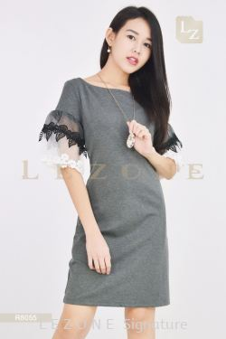 R8055 SLEEVE DETAIL DRESS【1st 30% 2nd RM100 OFF】
