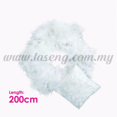 Feather String White (P-AC-F2W)