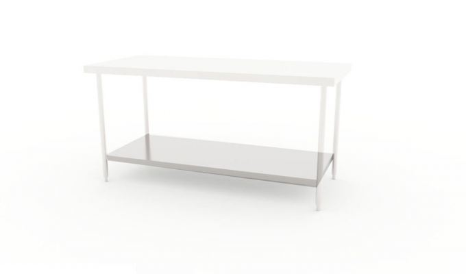 Worktable with Solid Base