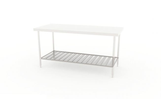 Worktable with Slatted Base