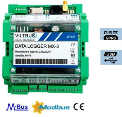 MX-3 GSM/GPRS Modbus Data Logger