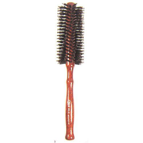 Lisse No.8 Roll Hair Brush with Wood Handle