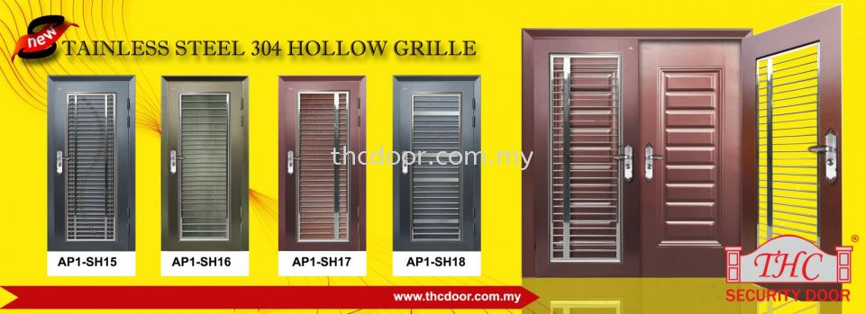 New Stainless Steel 304 Hollow Grille Security Door