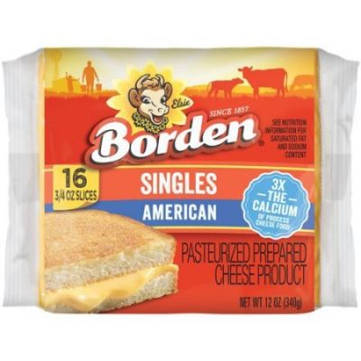 Borden American Cheese Color