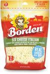 Borden 6 Cheese Finely Shredded Cheese