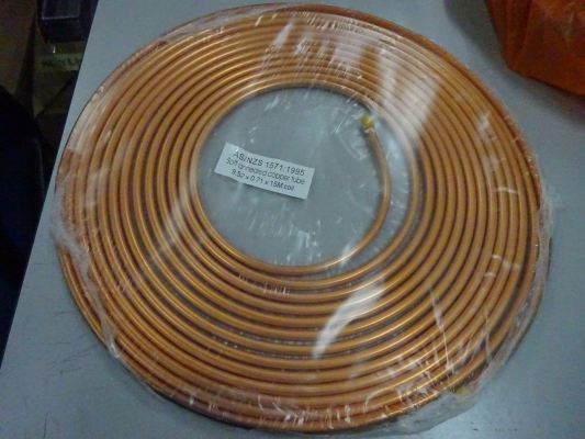 China Copper Tube Coil With AS/NZS 1571 : 1995 Standard