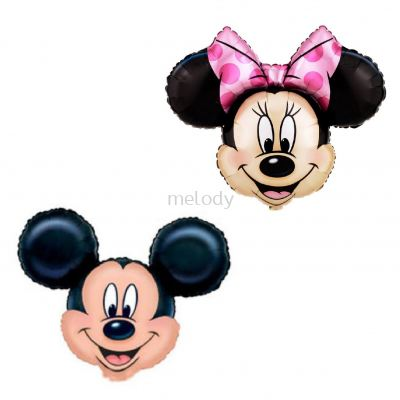 Foil Minnie and Mickey head