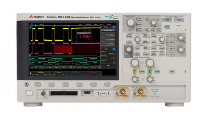 Mixed Signal Oscilloscope 200 MHz, 2 Analog Plus 16 Digital Channels, MSOX3022T