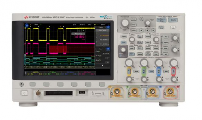 Mixed Signal Oscilloscope 200 MHz, 4 Analog Plus 16 Digital Channels, MSOX3024T