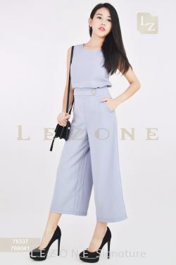 78337 + 768041 SLEEVELESS BLOUSE WITH CULOTTES【SCM VIP 10%】