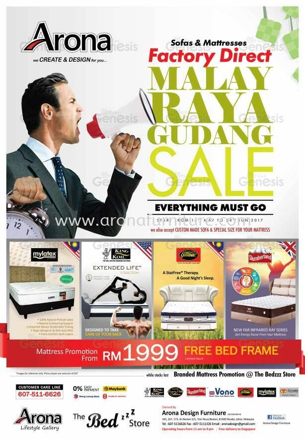 Promotion (Bed Room Set, Mattress,Sofa)