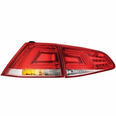 mk7 Rear Lamp Crystal LED + Light Bar Red/Clear