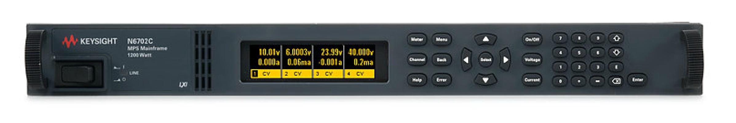 Keysight Low-Profile Modular Power System Mainframe, 1200W, 4 Slots, N6702C