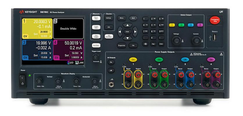 Keysight DC Power Analyzer, Modular, 600 W, 4 Slots, N6705C