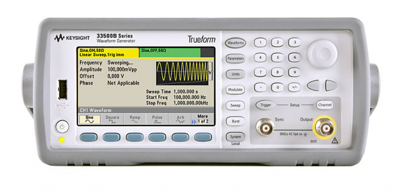 Waveform Generator, 30MHz, 1-Channel with Arb, 33521B
