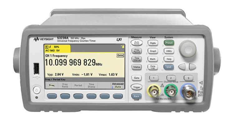 350MHz RF Frequency Counter, 10 digits/s, 53210A