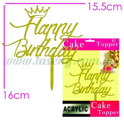 Cake Topper (Acrylic) HB2 (CT-HB-A2)