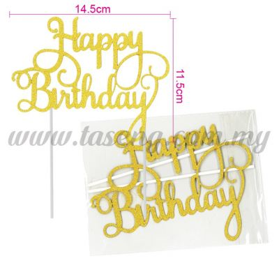Cake Topper *HAPPY BIRTHDAY GOLD (CT-HB-05G2)