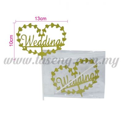 Cake Topper *WEDDING GOLD (CT-WD-01G)