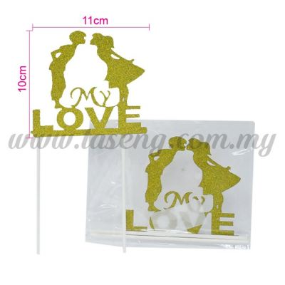 Cake Topper *LOVE GOLD (CT-WD-03G)