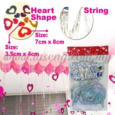 Decorative String Love Shape -Silver (P-AC-S1S)