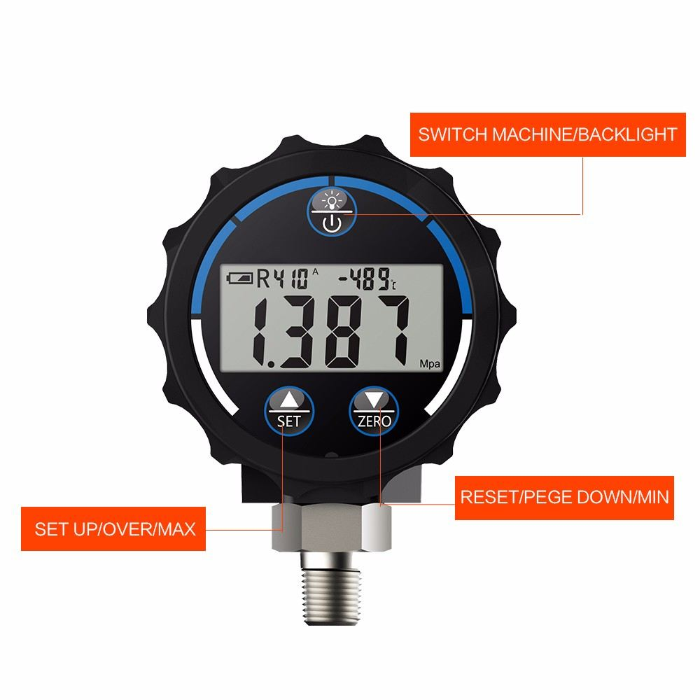 Elitech PG-30 Digital Pressure Gauge Meter Elitech Pressure Test Equipment and Accessories Subang Jaya, Selangor, Kuala Lumpur (KL), Malaysia. Supplier, Supplies, Manufacturer, Wholesaler | Culmi Air-Cond & Refrigeration Parts Supply Sdn Bhd