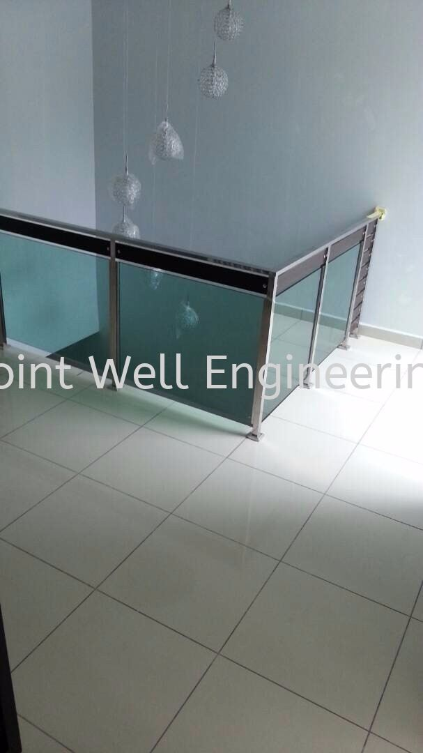Railing in Home Tempered Glass Stainless Steel Stair Hand Railing