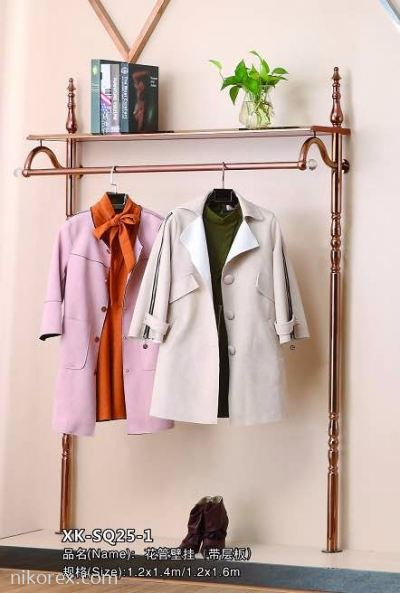 23803RG-1600MMH WALL TYPE GARMENT RACK-SQ25-1-ROSE GOLD
