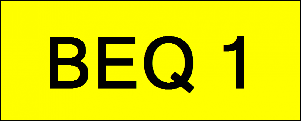 VVIP Number Plate (BEQ1)