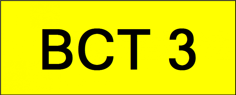 Number Plate BCT3