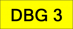 Number Plate DBG3 VVIP Plate