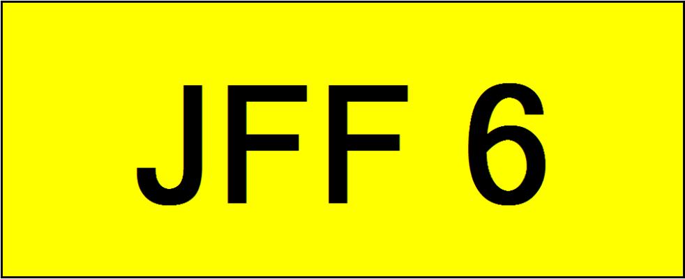 VIP Nice Number Plate (JFF6)