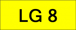 Number Plate LG8 Superb Classic Plate