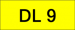 Number Plate DL9 Superb Classic Plate