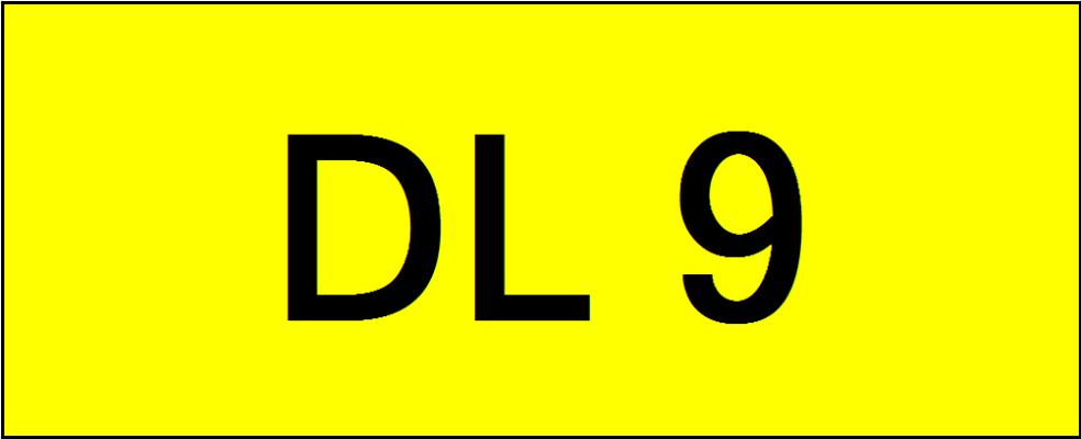 Number Plate DL9