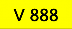 Number Plate V888 Rare Classic Plate