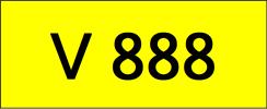 V888 Rare Classic Plate