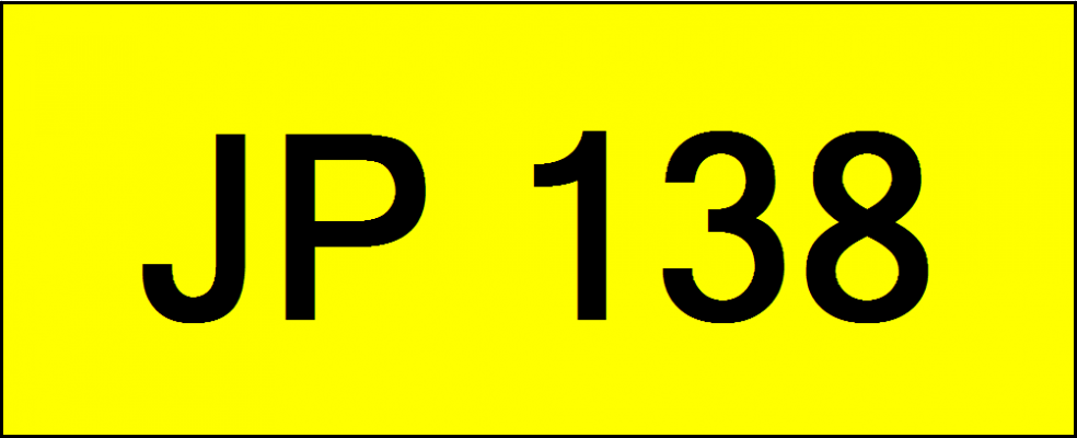 Superb Classic Number Plate (JP138)