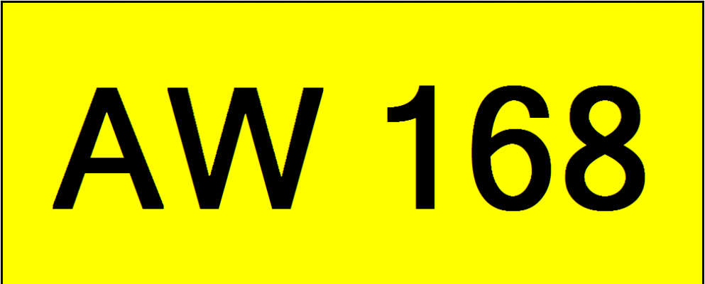 Superb Classic Number Plate (AW168)