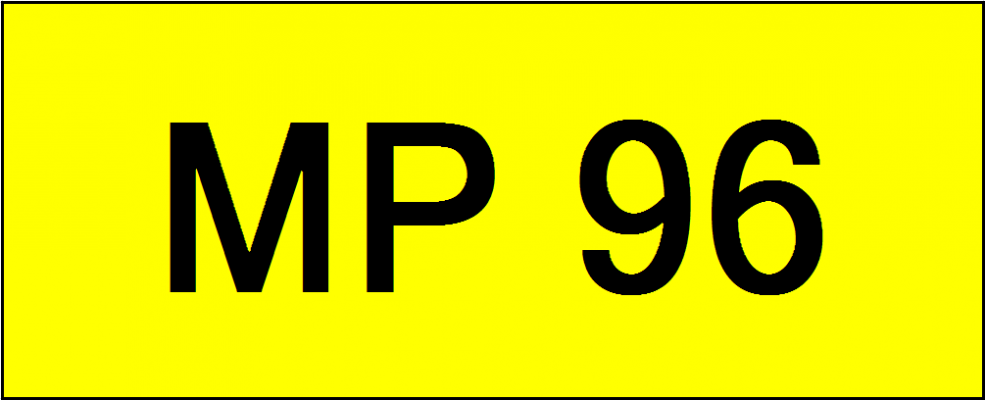 Number Plate MP96