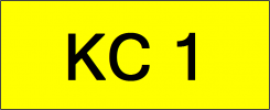 Number Plate KC1 Superb Classic Plate